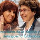 La presidenta de la Nación y el CEO de L'Oréal para Argentina distinguen a la doctora Andrea Gamarnik