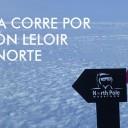 Maratonista corre por el Instituto Leloir en el Polo Norte
