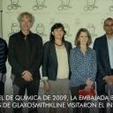 El premio Nobel de Química de 2009, el agregado científico de la Embajada Británica y representantes de GlaxoSmithKline visitaron el Instituto Leloir