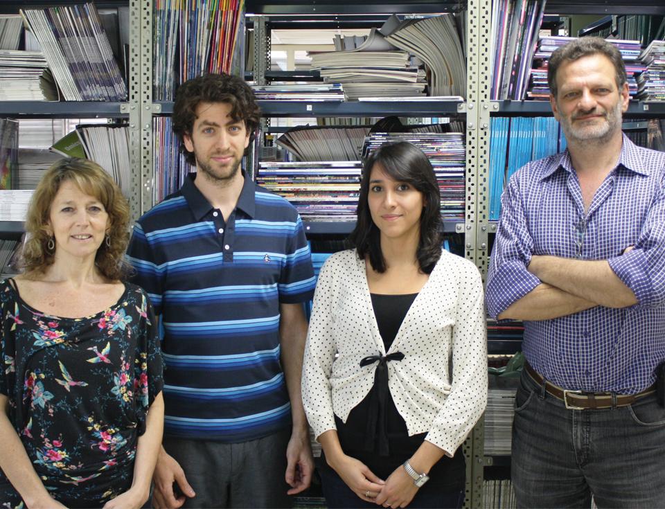 La Dra. Zorreguieta (izq.), el Dr. Bonomi, La Lic. Serer y el Dr. Goldbaum.
