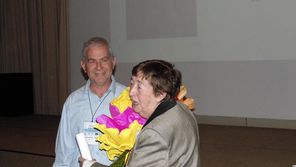 GlycoAr Reconocimiento - Rosa Lederkremer juanto a Gerardo Lederkremer