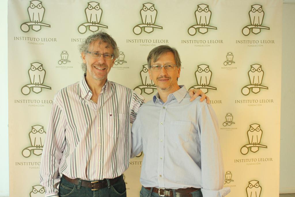 El Dr. Schinder (izquierda) junto al Dr. Gustavo Murer