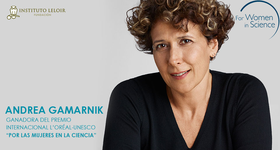 """La doctora Andrea Gamarnik, jefa del Laboratorio de Virología Molecular del Instituto Leloir e Investigadora Principal del CONICET, obtuvo el Premio Internacional L'Oréal-UNESCO """"Por las Mujeres en la Ciencia"""" a la científica más destacada de América Latina."""