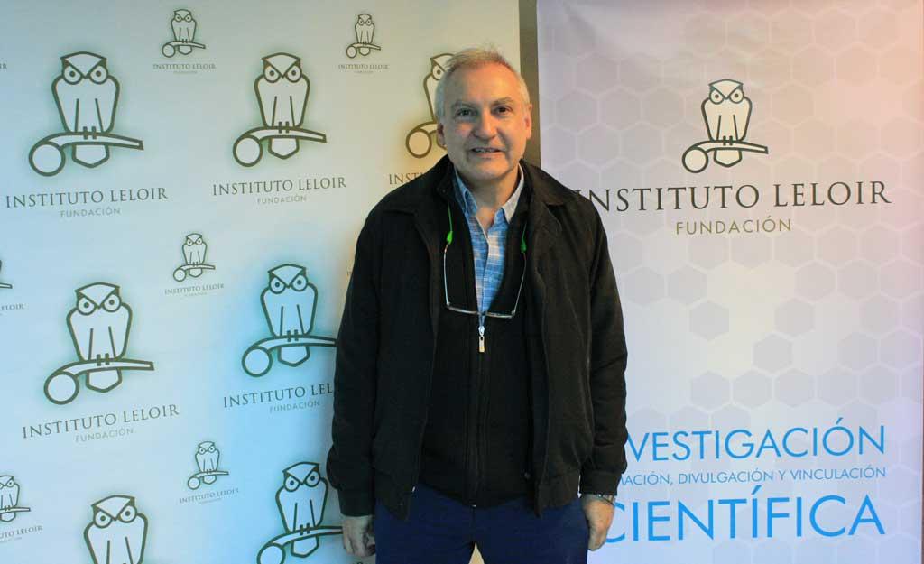 El Dr. Estrin en la Fundación Instituto Leloir al terminar el Seminario.