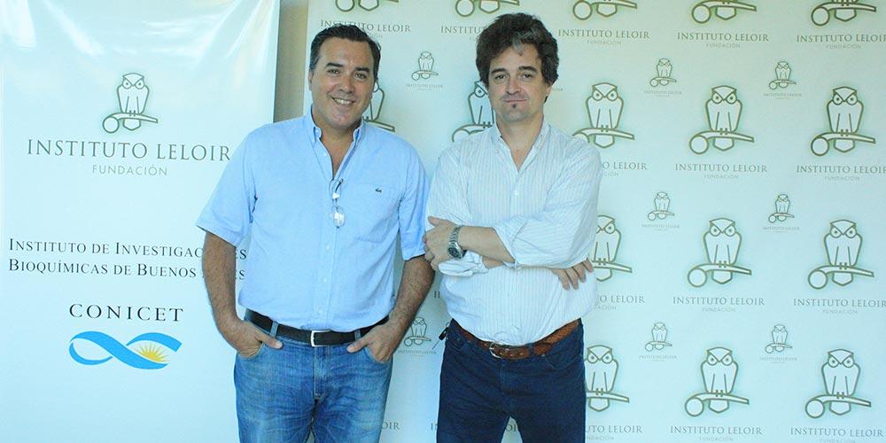 El doctor Galo Soler Illia (der.) y el doctor José Estévez, organizador de los Seminarios Cardini del Instituto Leloir.