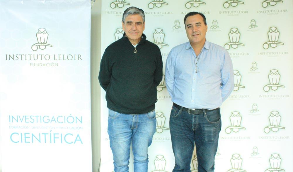 El doctor Diego de Mendoza, investigador del Instituto de Biología Molecular y Celular de Rosario (izq.) y el doctor José Estévez, organizador de los Seminarios Cardini del Instituto Leloir.