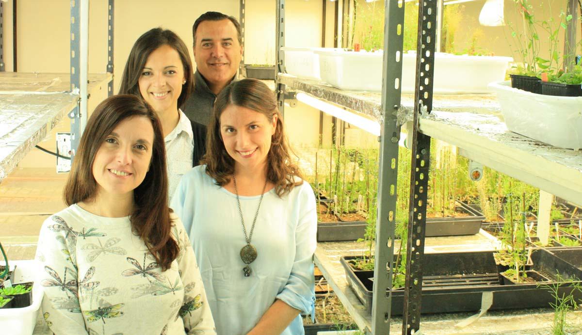 Los autores del novedoso avance, el doctor José Manuel Estévez, jefe de laboratorio en el Instituto Leloir, e integrantes de su grupo, las licenciadas Silvina Denita-Juárez y  Eliana Marzol, y la doctora Silvina Mangano.