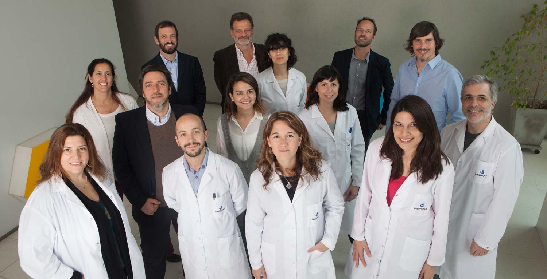 Los investigadores de Inmunova, la empresa de biotecnología formada por científicos del Instituto Leloir, del Instituto de Investigaciones Bioquímicas de Buenos Aires (IIBBA)-CONICET,  y emprendedores. Créditos: Prensa - Fundación Mundo Sano.