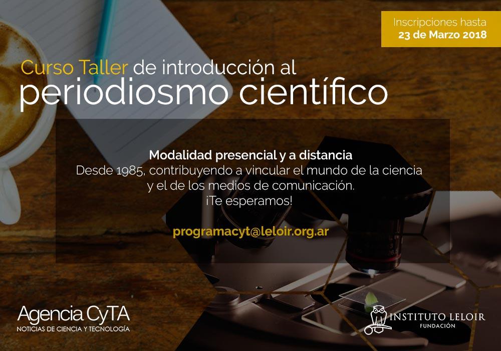 Cursos-taller de introducción al periodismo científico 2018