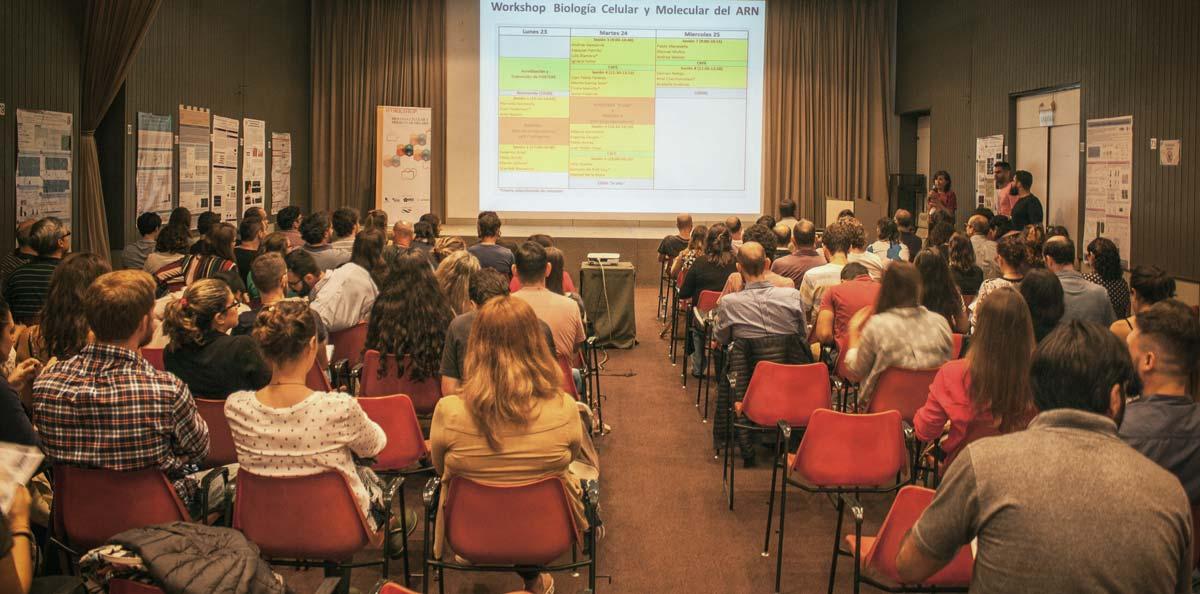La Dra. Graciela L. Boccaccio dando la bienvenida en la apertura de workshop.