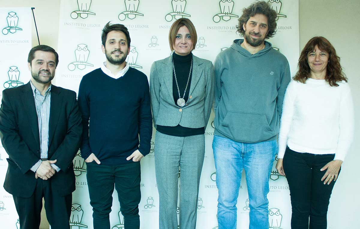 Gustavo Sibilla (izq.), Manuel Balparda, Soledad Escobar, Ariel Chernomoretz y Cristina Marino-Buslje.
