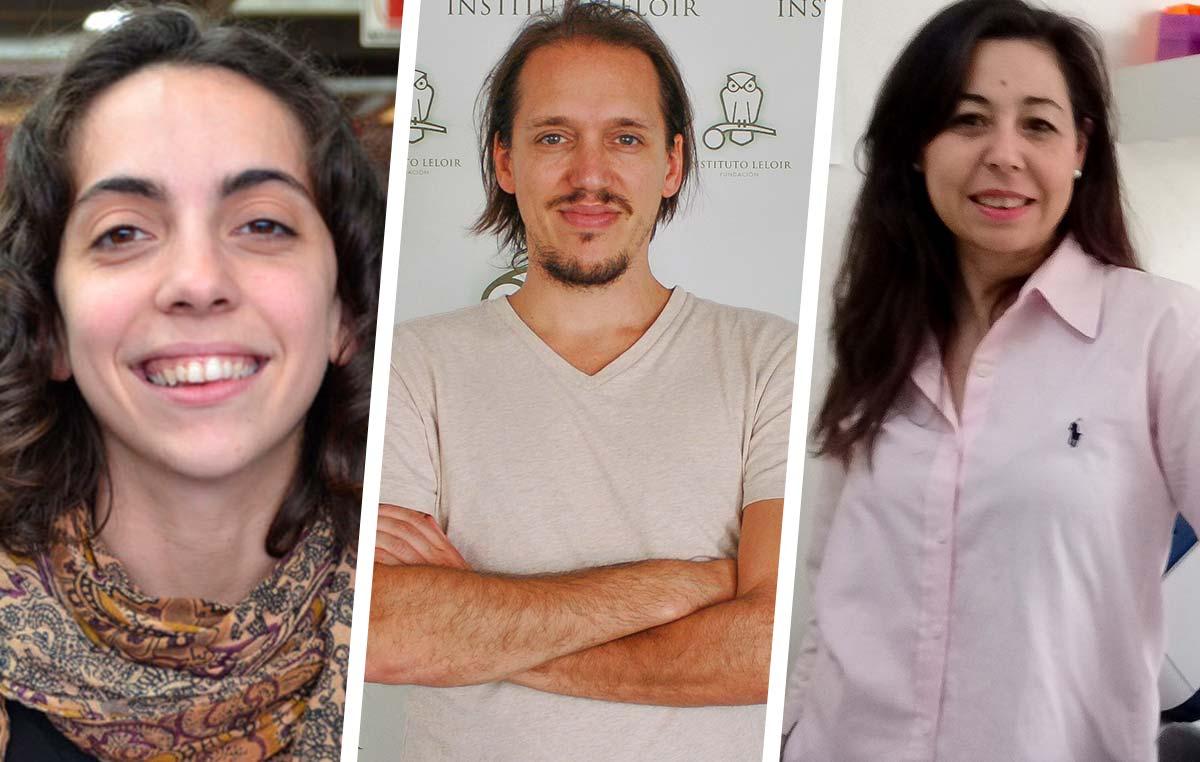 Los tres nuevos jefes de laboratorio de la Fundación Instituto Leloir, los doctores Daiana Capdevila, Emilio Kropff y María Fernanda Ledda.