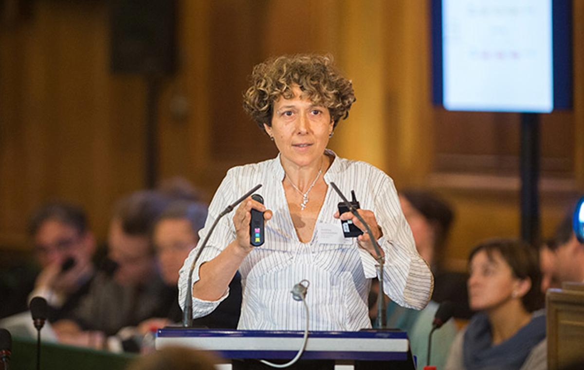 La doctora Andrea Gamarnik, jefa del Laboratorio de Virología Molecular de la Fundación Instituto Leloir.