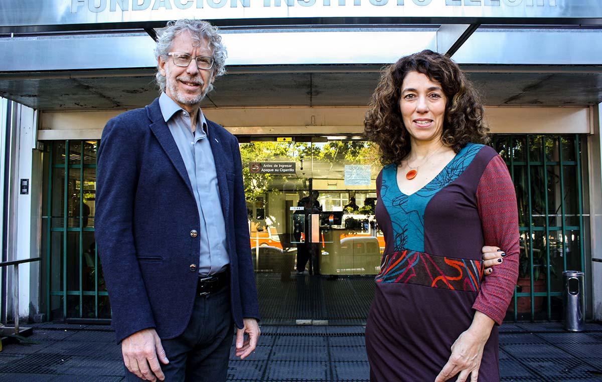 Fernanda Ceriani y Alejandro Schinder, científicos de la Fundación Instituto Leloir.