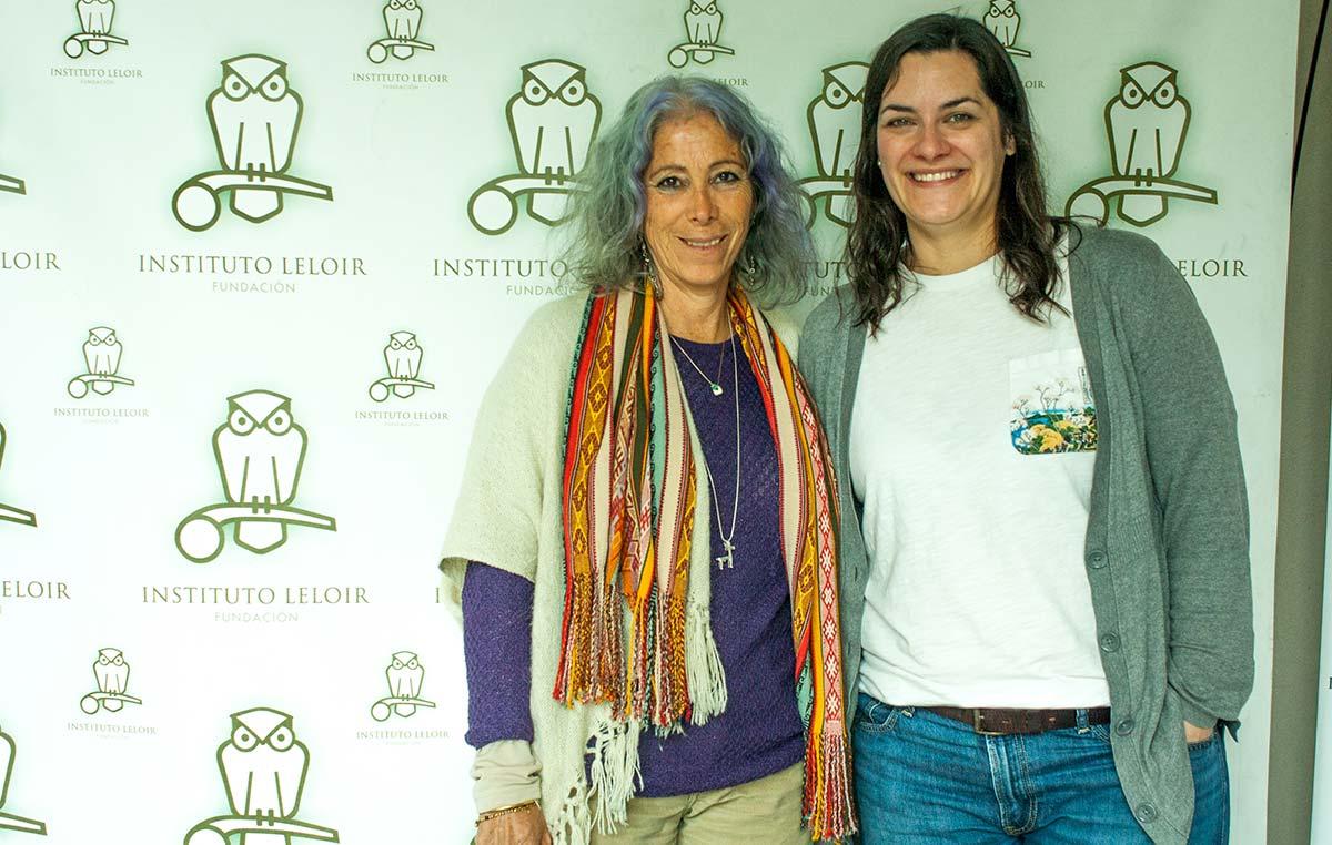 La doctora Bibiana Vilá (izq.) y Gabriela Auge, integrante del comité organizador de los Seminarios Cardini del Instituto Leloir.