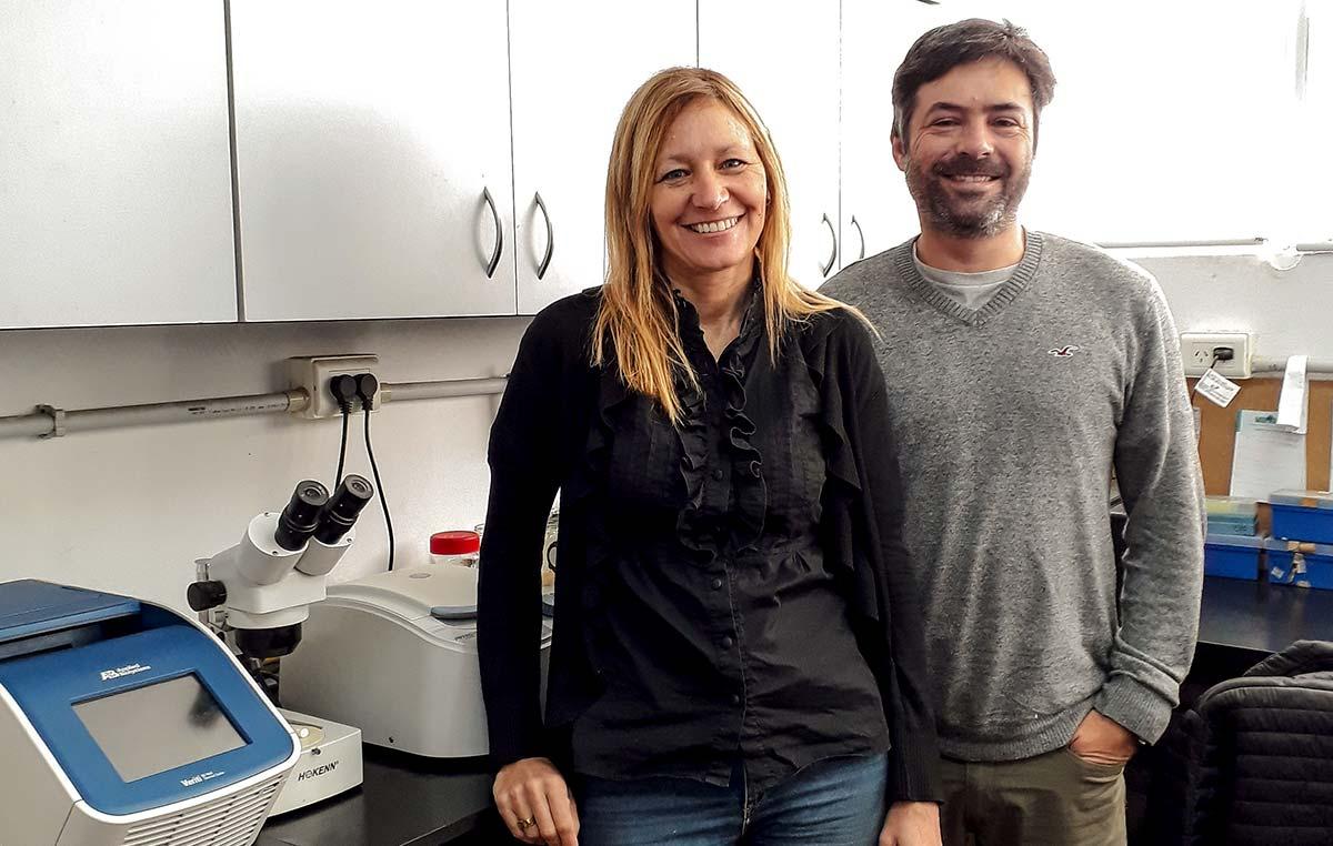 Gabriela Pagnussat y Diego Fiol.