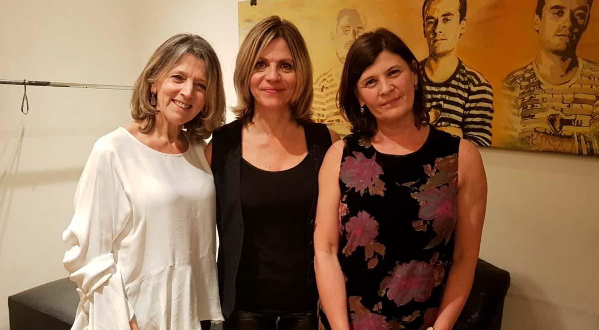 Marcela Morelo con autoridades del Instituto Leloir.
