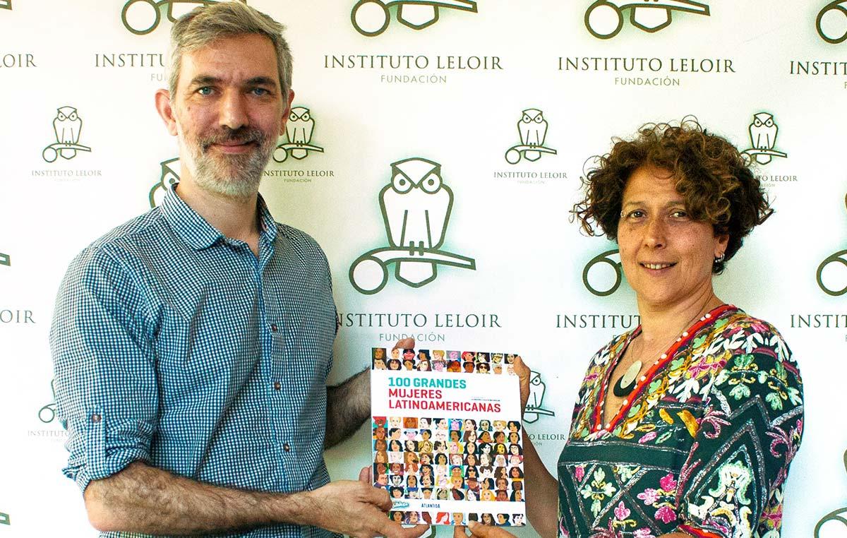 """Euhen Matarozzo, director de Billiken, y Andrea Gamarnik, investigadora del Instituto Leloir y ganadora del Premio internacional L'Oréal-UNESCO """"Por las Mujeres en la Ciencia"""" en 2016."""