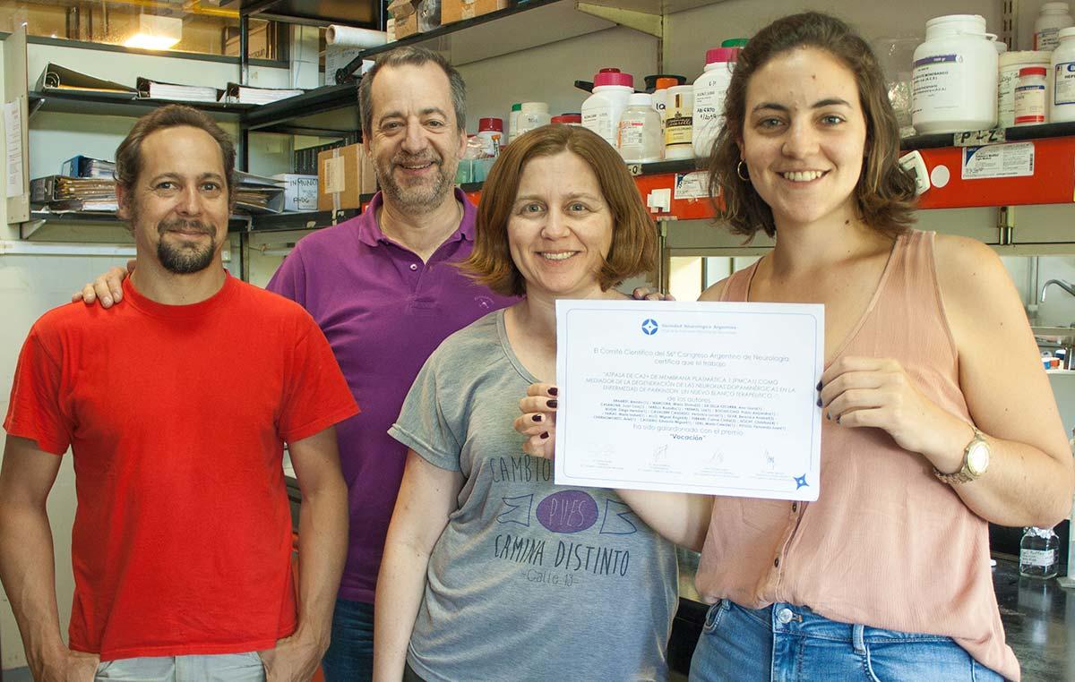 Brenda Erhardt (der.), María Celeste Leal, Fernando Pitossi y Juan Cruz Casabona.