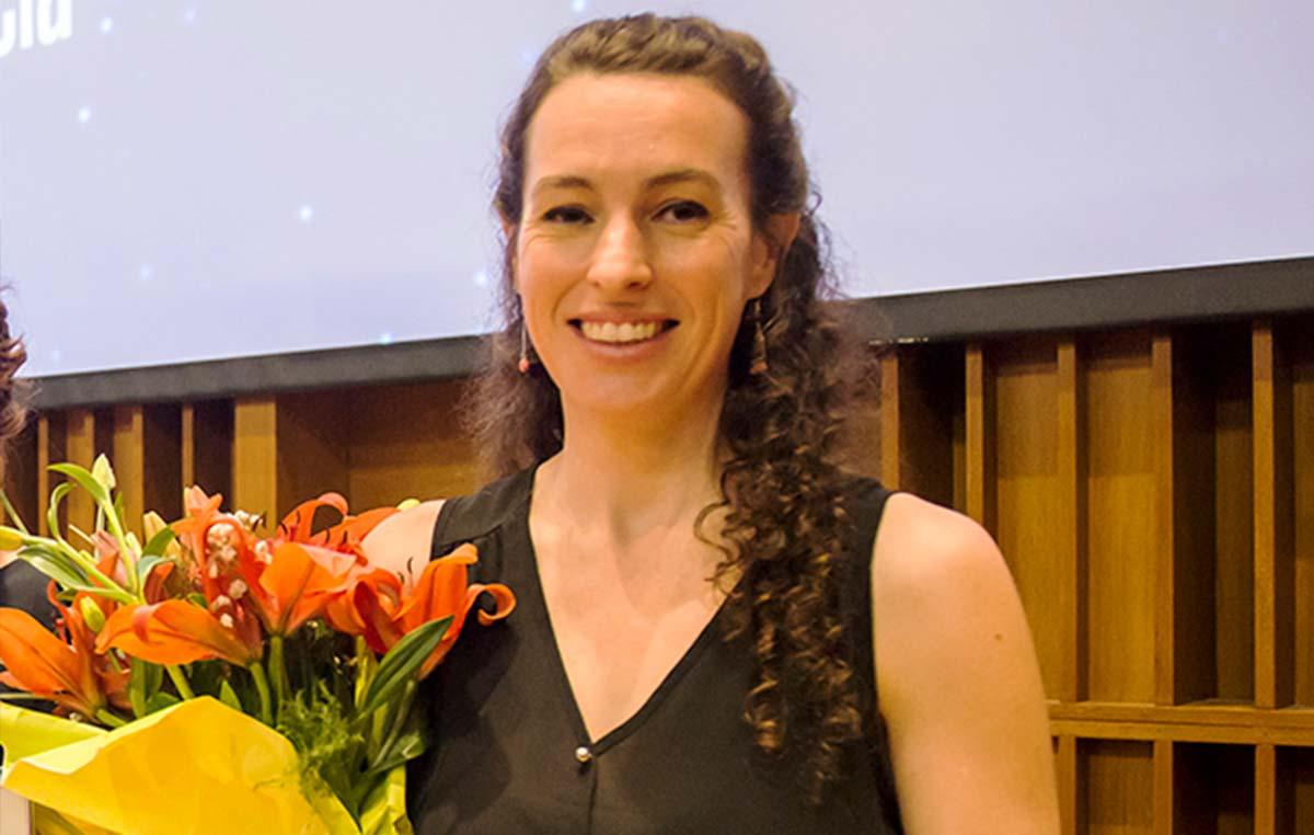 """Marina González, investigadora del Instituto Leloir, ganó una mención especial en la categoría """"Beca"""" para jóvenes del Premio Nacional L'Oréal-Unesco """"Por la Mujer en la Ciencia"""" 2019."""