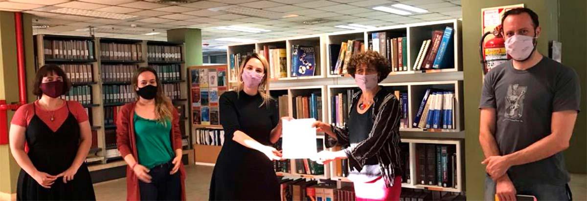 Yanina Miragaya, Rocío Quiroga, y Florencia Copello, del Instituto Nacional de Servicios Sociales para Jubilados y Pensionados (INSSJP-PAMI), y Andrea Gamarnik y Andrés Rossi, del Instituto Leloir.